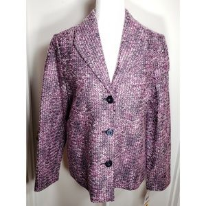 Alfred Dunner Sweet Temptation Multi Color Blazer